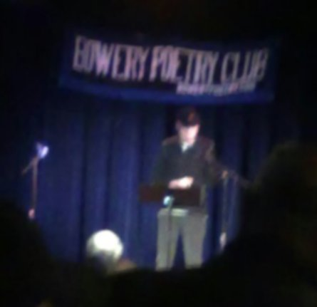 Jeff at Bowery Poetry Club
